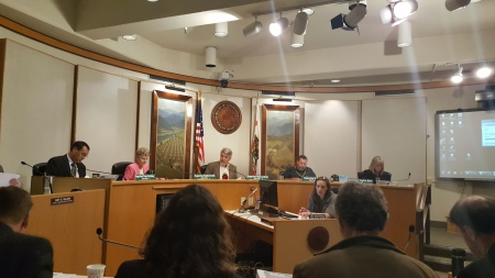 Humboldt County Supervisors chambers on cannabis ordinance update
